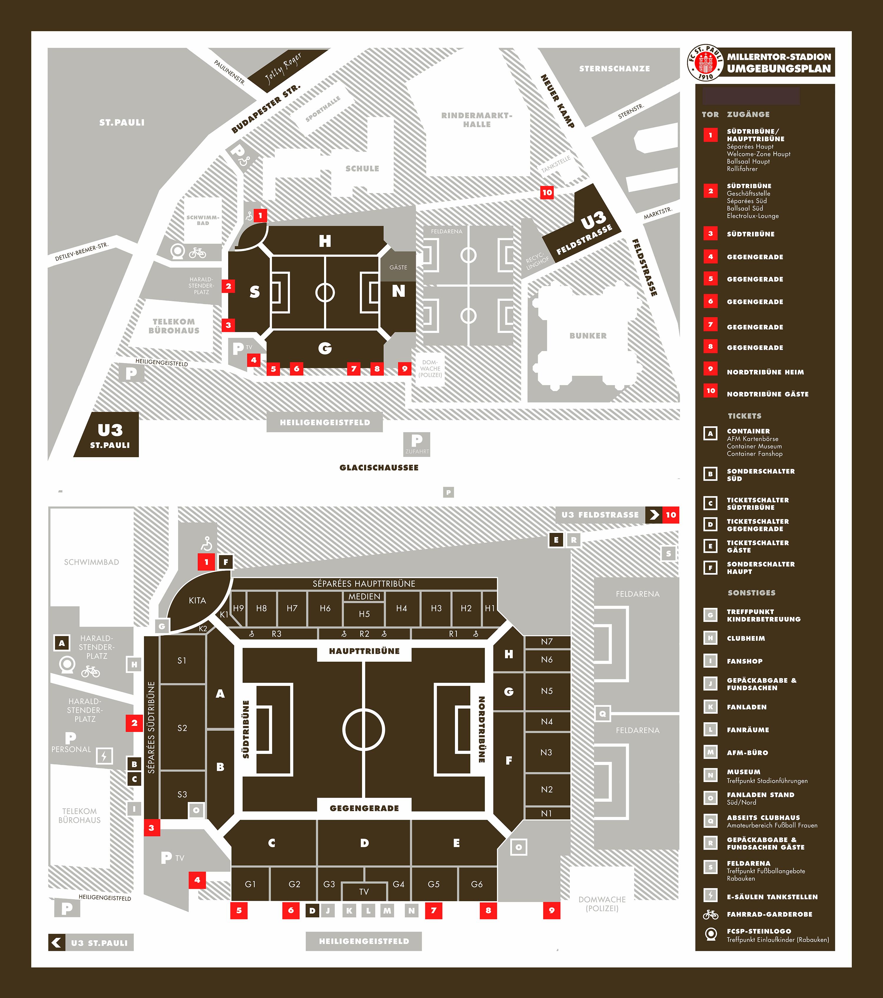 Stadionplan St Pauli